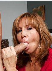 Engaging milf Tara Holiday rides a young wiener and gets fully satisfied