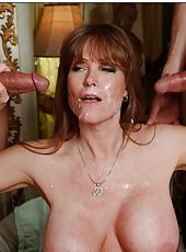 Winning pornstar Darla Crane prefers when two guys a fucking her