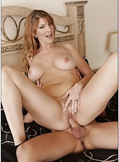 Cocky whore Robbye Bentley fucking with her lovely neighbor on bed