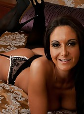 Superior hooker Ava Addams showing her hot forms and playing with boobs
