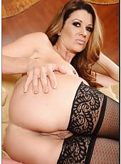 Delicate pornstar Raquel Devine showing her secrets and rubbing tits