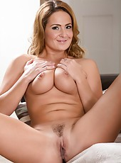 Tall and hot bitch Elexis Monroe showing big ass and masturbating