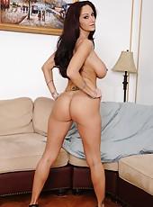 Adorable pornstar Ava Addams posing naked and masturbating for fun