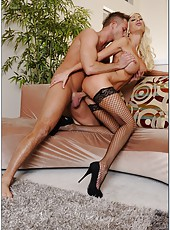 Lovely housewife Puma Swede getting dirty with her new neighbor