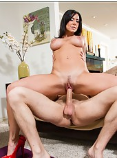 Raunchy babe Kendra Lust prefers riding big cocks and getting pleased