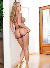 Goodly wanton Brandi Love rides a hard daggers and gets entirely satisfied