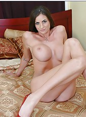 Hardcore action in which horny brunette Amanda Emino sucks a dick