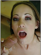 Beautiful and gorgeous brunette milf Kylee King tastes a sweet sperm