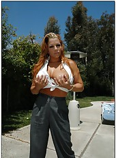 Hardcore and crazy fuck with a busty lady named Mercedes Ashley