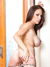 Curious milf McKenzie Lee playing with big melons and fingering wet snatch