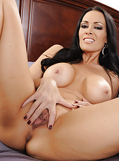 Amazing tramp Vanilla Deville showing fuckable ass and masturbating