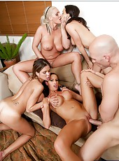 Group sex with Chanel Preston, Hunter Bryce, Kortney Kane and Sadie Swede