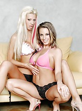 Fabulous milf ladies Tanya James and Tessa West receiving a facial