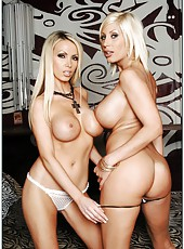 Sweet blowjob done by milf babes Nikki Benz and Puma Swede in a threesome sex