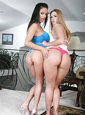 Threesome sex with busty milf ladies Angelina Valentine and Brianna Love