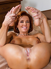 Big boobed pornstar Veronica Avluv is doing hot blowjob in sexy lingerie