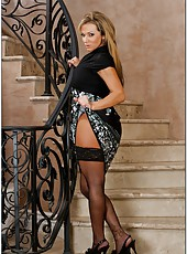 Sexy pornstar Nikki Sexx is showing her perfect body in sexy stockings