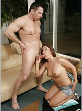 Kaci Starr is demonstrating her milf body while doing hot blowjob