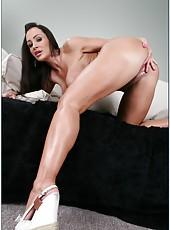 Milf beauty with big tits Lisa Ann is enjoying big cock of her horny man
