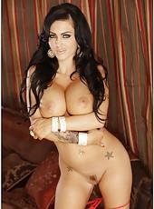 Milf slut with huge tits Jenna Presley is riding a big dagger
