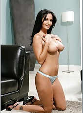 Sexy babe Ava Addams is revealing her perfect body in a striptease