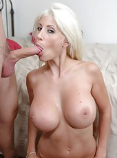 Horny milf slut Puma Swede is spreading her legs wide open for a hard cock