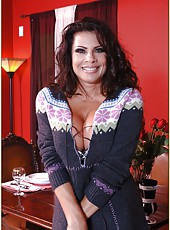Perfect lady Teri Weigel is showing her big tits in sexy lingerie and fucking