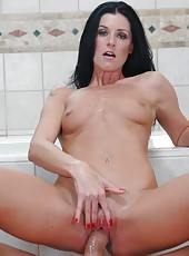 Fantastic porn model with tiny tits India Summer is fucking at the pool