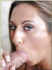 Outstanding girl with sexy big tits Alisandra Monroe sucking hard cock