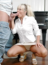 Fabulous blonde milf Chennin Blanc is demonstrating her sex skills
