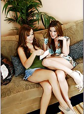 Awesome babes Jaclyn Case and Kayla Paige getting ready to be pounded