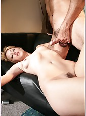 Stunning blonde with skinny body Kimberly Kane fucking like a true whore