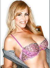 Lovely lady Nicole Moore masturbating hard and tasting a yummy dagger