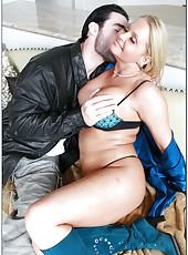 Radiant blonde Maya Divine demonstrates big ass and gets nailed hard