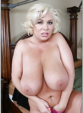 Happy wife Claudia Marie loves playing with big cocks and getting cumshots