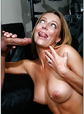 Cute milf Brenda James prefers swallowing young cocks and getting drilled