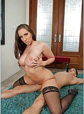 Radiant milf with massive ass Kelly Divine gets drilled and creampied