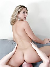 Miniature whore Brianna Beach showing what she can do with a big hard rod