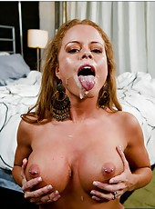 Great milf Nikki Delano posing in her bedroom and getting pounded hard