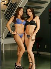 Ann Marie Rios and Francesca Le pleasing their friend and getting a cumshot