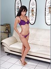 Cheeky curve with small boobs Reena Sky likes masturbating and sucking