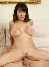 Goodly milf Sienna West enjoys swallowing young cocks and sucking balls