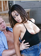 Classy hooker Missy Vega enjoys a big tasty dagger and rides it on camera