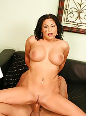Lovely milf Sophia Lomeli banging with her husband and getting satisfied
