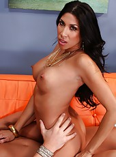 High-class whore Kayla Carrera likes working with big cocks and swallowing load