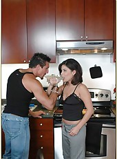 Pretty milf Michelle Avanti showing tight vagina and pleasing her husband