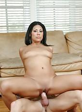 Gentle pornstar Cassandra Cruz adores swallowing big cocks and getting drilled