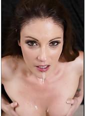 Sensate babe Samantha Ryan jilling vagina and pleasing her sexy boyfriend