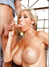 Booty blonde Evita Pozzi loves fingering and playing with big tasty peckers
