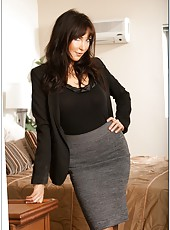 Nasty milf Diana Prince showing big boobs and doing bad things with cocks